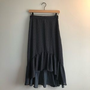 H&M High Low Skirt Blue